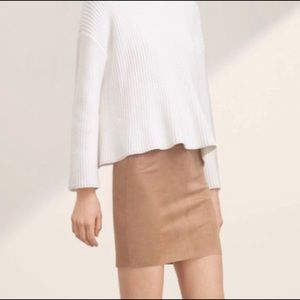 Wilfred Free || vegan suede mini skirt